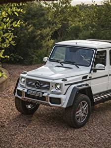 Обои Mercedes-Benz Стайлинг Белый 2017 Maybach G 650 Landaulet Worldwide