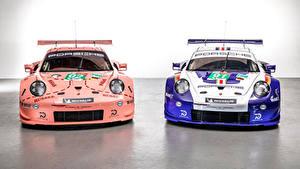 Картинки Porsche Тюнинг 2 Спереди 2018 911 RSR Автомобили