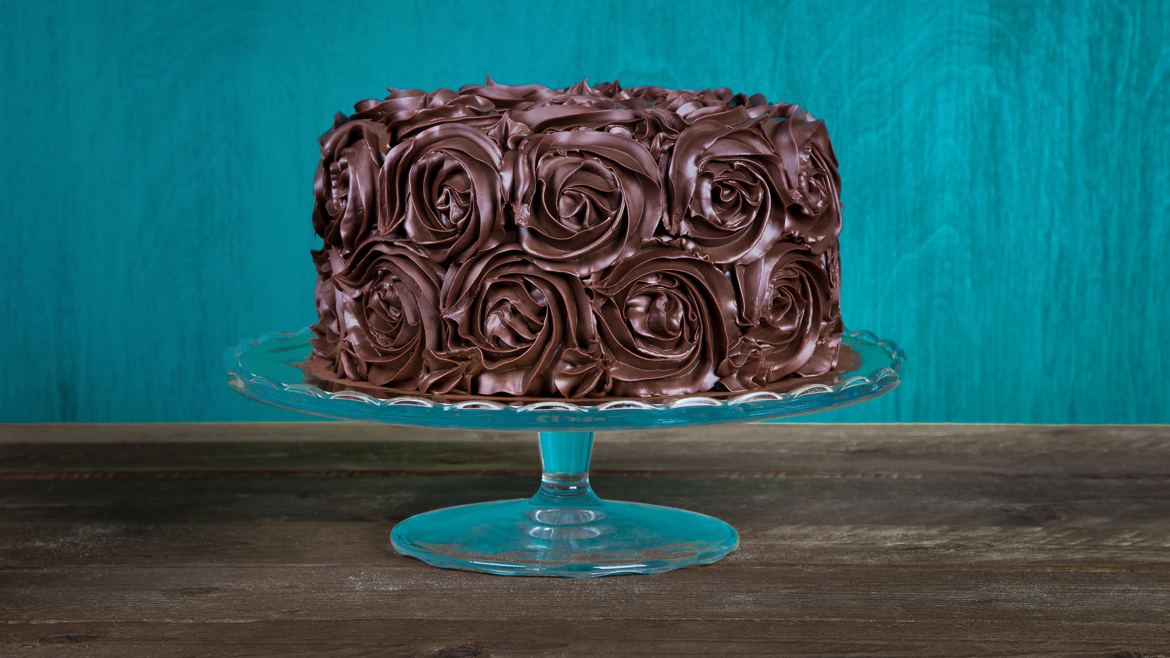 Картинка Шоколад Торты Еда Сладости Дизайн 3840x2160 Пища Продукты питания