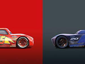 Фотография Тачки 3 Двое Lightning McQueen, Jackson Storm мультик