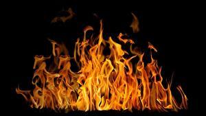 Картинка Пламя На черном фоне Accelerated oxidation