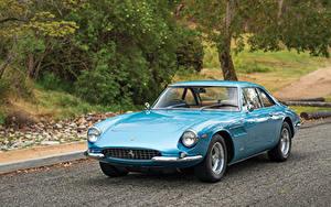 Фотографии Ferrari Ретро Голубой Металлик 1966 500 Superfast Pininfarina