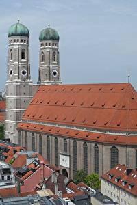 Фотография Здания Церковь Мюнхен Германия Памятники Собор Башни Бавария Frauenkirche Cathedral Города