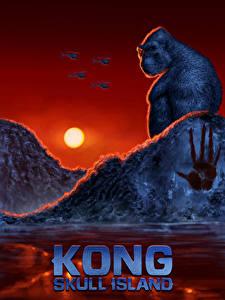 Обои Конг: Остров черепа Обезьяны Рассветы и закаты Фан АРТ Кино