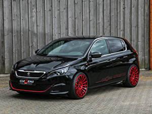 Картинки Пежо Черный Металлик 2018 Clemens Motosport Peugeot 308 GTi Авто