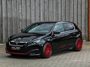 Картинки Peugeot Черная Металлик 2018 Clemens Motosport Peugeot 308 GTi Авто