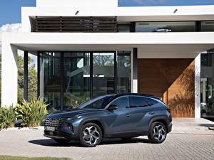 Обои Hyundai Кроссовер Металлик Tucson Hybrid (NX4), 2021 автомобиль