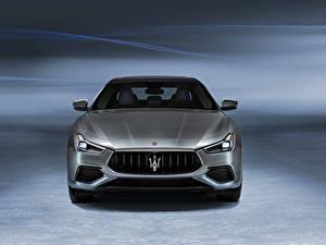 Обои Maserati Спереди Серый Металлик Ghibli GranSport Hybrid, M157, 2020 автомобиль