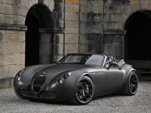 Обои Wiesmann Серый Кабриолет Родстер 2011 Roadster MF5 Black Bat