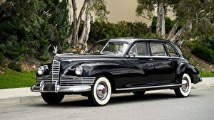 Картинка Старинные Черных Металлик 1946 Packard Custom Super Clipper Limousine машины