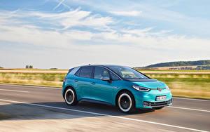 Фотография Volkswagen Дороги Движение Голубые Металлик ID.3 1ST Worldwide, 2020 авто