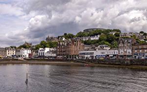 Фото Шотландия Дома Речка Oban