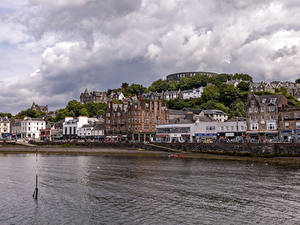 Фото Шотландия Дома Речка Oban город