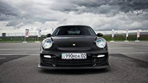 Картинки Порше Спереди Черная 911 Almaty Black Front авто