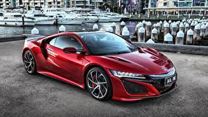 Фото Хонда Красный Металлик NSX Машины
