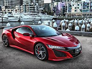 Фото Хонда Красный Металлик NSX Авто