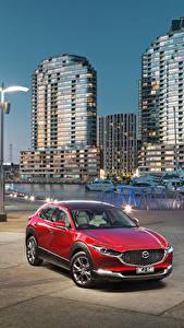 Фотографии Мазда Красных Металлик 2019-20 CX-30 Автомобили