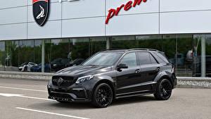 Обои Мерседес бенц Черный Металлик 2016-17 TopCar Mercedes-Benz GLE-Klasse Inferno автомобиль