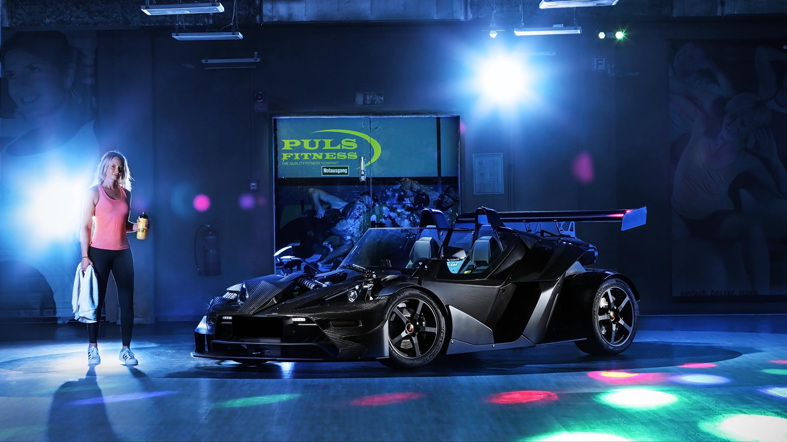 Картинки KTM Автомобили 2018-19 Wimmer RS X-Bow Carbon DSG Черный авто 2560x1440 КТМ черная черные черных машина машины Автомобили автомобиль