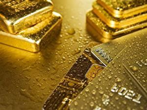Фотография Золото Слитка Капля