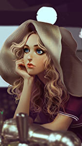 Фотографии Рисованные Блондинка Красивые Девушки