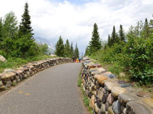 Фотография Осенние США Камни Парки Идет Wyoming, Grand Teton National Park Природа