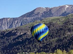 Фотографии Горы Воздушный шар