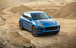 Фотографии Porsche Металлик Синий 2020 Macan Turbo машина