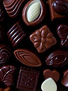 Картинки Сладости Конфеты Шоколад Вблизи Пища