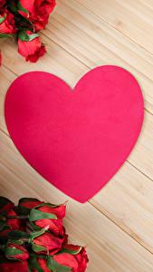 Фото День святого Валентина Роза Много Красных Сердце Цветы