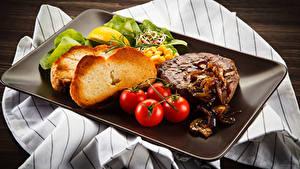 Обои Мясные продукты Хлеб Томаты Пища