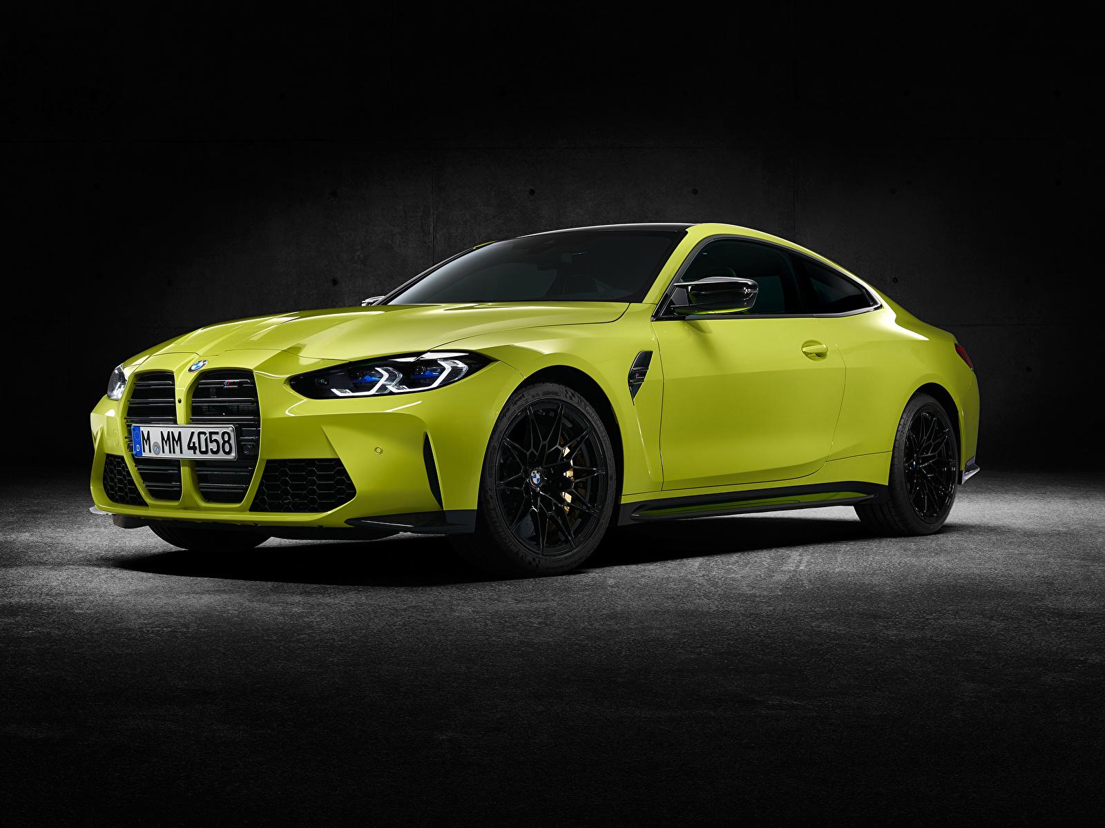 Обои для рабочего стола БМВ M4 Competition, (G82), 2020 Купе авто Металлик 1600x1200 BMW машина машины Автомобили автомобиль