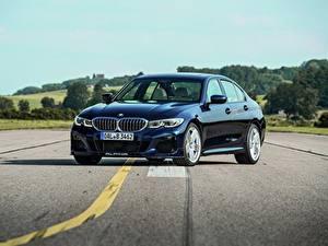 Обои BMW Асфальта Синие Металлик 3-series, Alpina, 2010-20, G20, B3