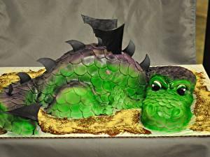 Фото Сладости Торты Драконы Дизайн Dragon Cake
