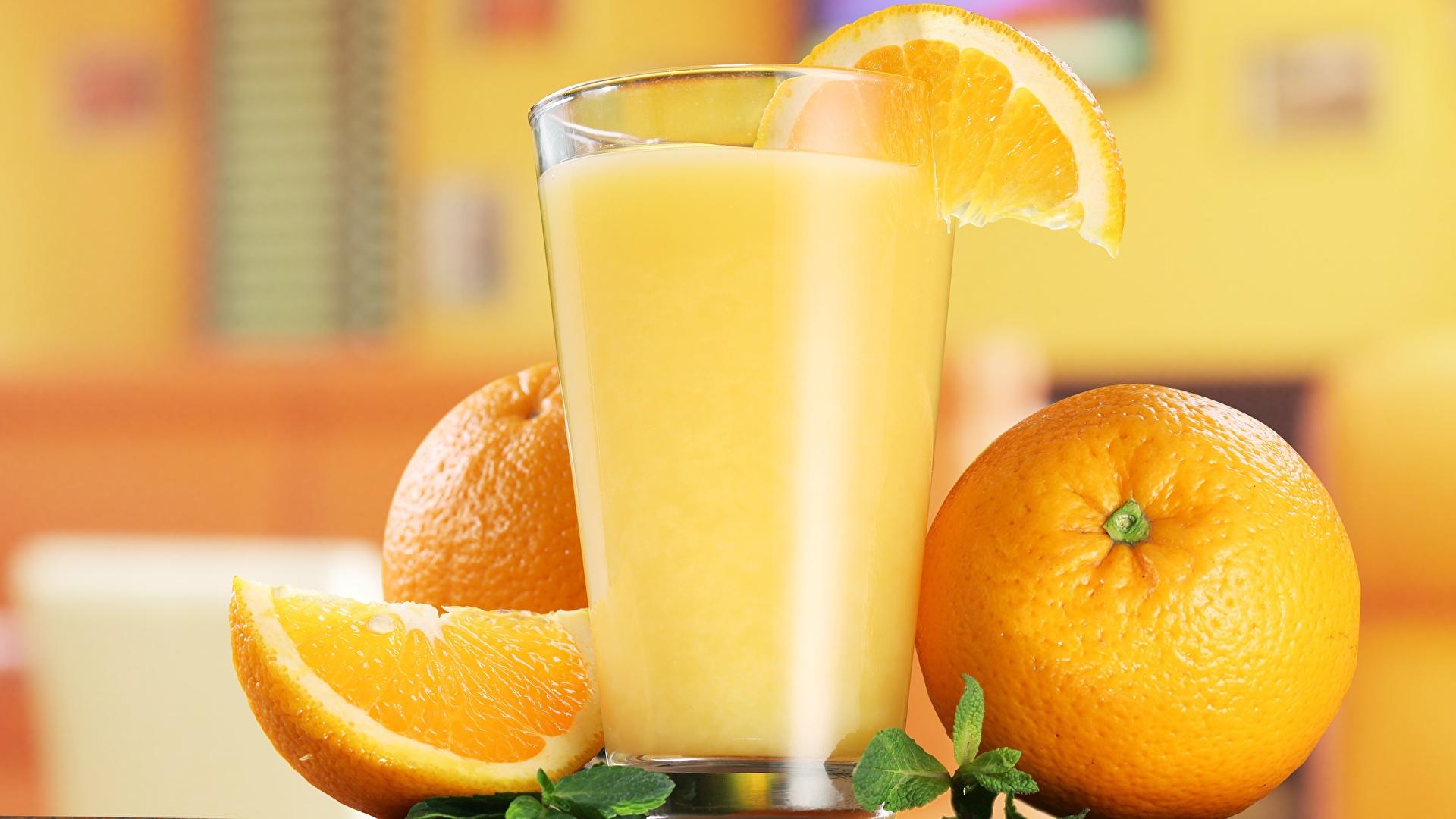 Обои Сок Апельсин Стакан Еда 1920x1080 стакана стакане Пища Продукты питания
