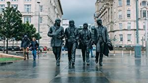 Фотография Англия Скульптура The Beatles Памятники Liverpool