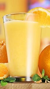 Обои Сок Апельсин Стакан Еда