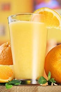 Обои Сок Апельсин Стакане Еда