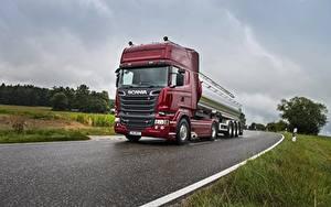 Обои Scania Грузовики Дороги Скорость R730 машины
