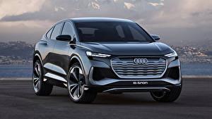 Фото Ауди Кроссовер Спереди Металлик Q4 Sportback e-tron Concept, 2020 авто