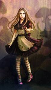 Фотография Рисованные Девочки Платье Alice Фантастика