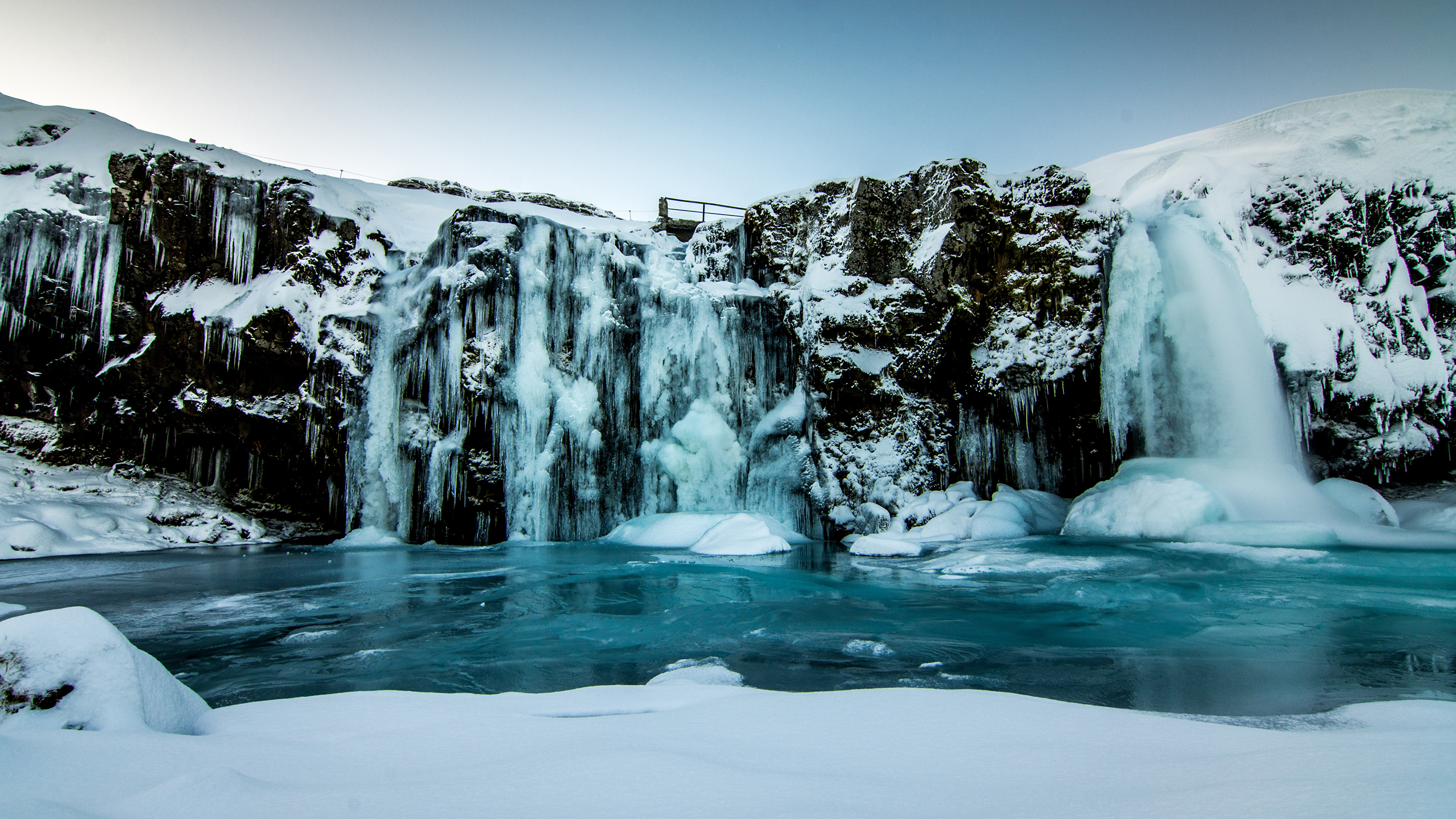 Зимний водопад подборки