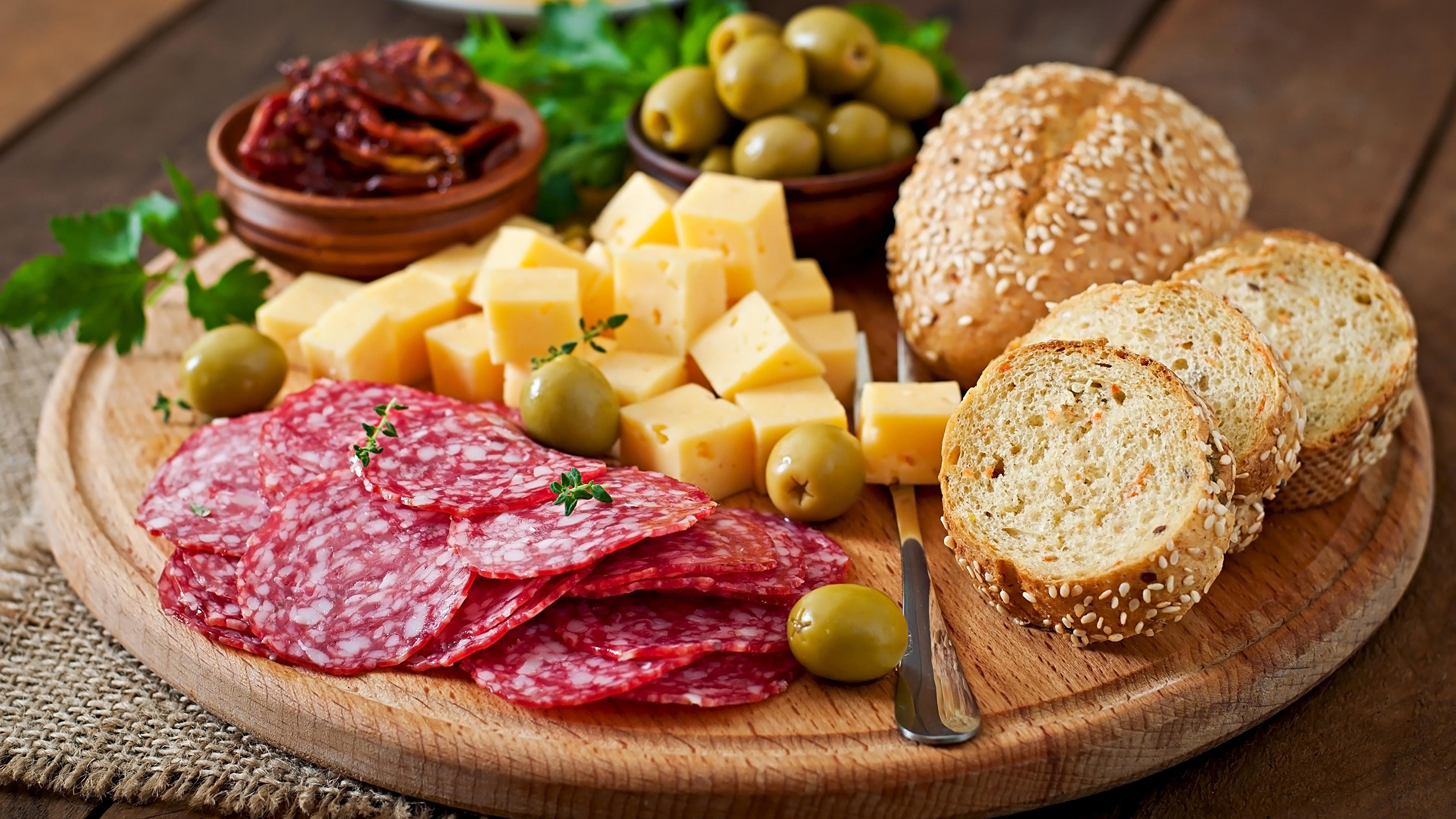 мясо, колбаса, оливки, сыр без смс