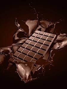 Фотографии Шоколад Шоколадка С брызгами