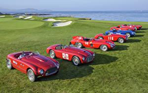 Фотографии Ferrari Красный 1947-2017 Автомобили