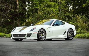 Обои Феррари Белый 2010-12 599 GTO Pininfarina