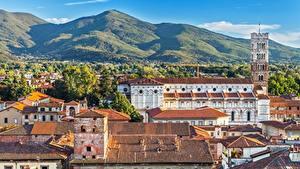 Обои Здания Италия Крыша Lucca, Tuscany