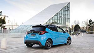 Обои Toyota Голубых Металлик Yaris ZR Hybrid, AU-spec, 2020 Автомобили