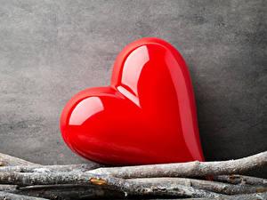 Фотография День всех влюблённых Сердечко Красный Ветвь