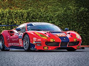 Фото Ferrari Стайлинг Красный Металлик 2016-18 488 GTE Автомобили
